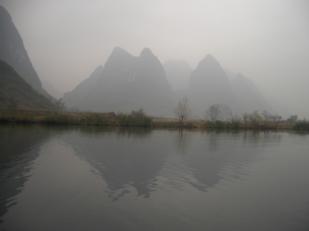 View from a bamboo raft during my travels in China