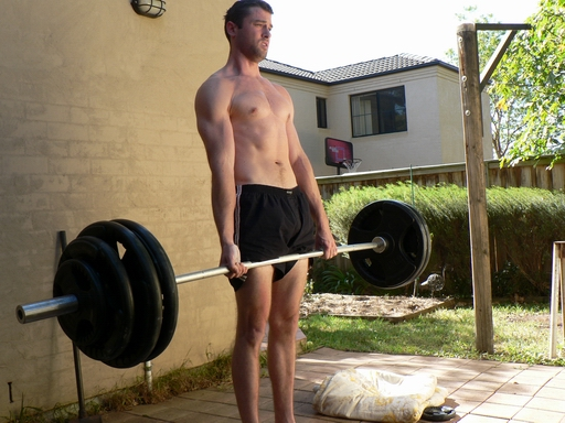 Deadlifting 2 x body weight (160kg or 352lbs) for reps (September 2009)